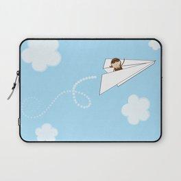 Paper Aeroplane Pilot Laptop Sleeve