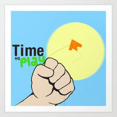 Time to play  Art Print