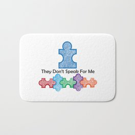Autism Speaks Doesn't Speak for Me Bath Mat
