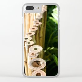 Bamboo By Mandy Ramsey Clear iPhone Case