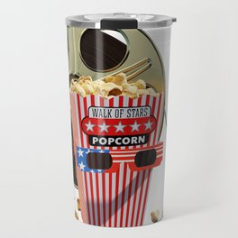 3D Movie Reel and Buttered Popcorn Travel Mug