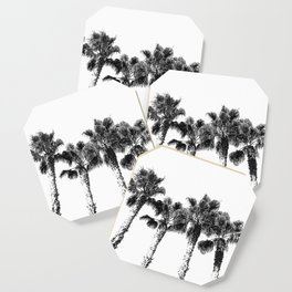 Tropical Palm Tree Photography {2 of 2} | Black and White Coaster