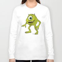 monsters inc Long Sleeve T-shirts featuring Monsters, Inc. | Mike Wazowski by Brave Tiger Designs