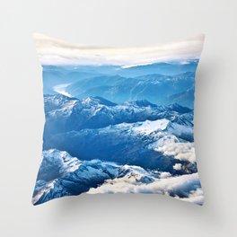 Above the Mountains I Throw Pillow