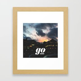 Go // #TravelSeries Framed Art Print