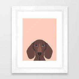 Remy - Daschund hipster dog, doxie, weiner dog, wiener dog,  Framed Art Print