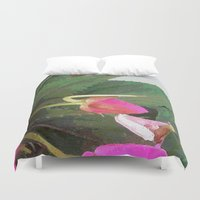 hot pink Duvet Covers featuring Hot Pink by Glenn Designs