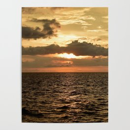 Sunset at Tamarindo Poster