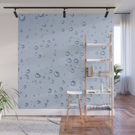 Water Drops Design Wall Mural