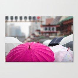 A Sea of Umbrellas Canvas Print