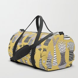 Vases and Stripes Duffle Bag