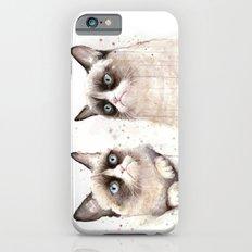 Grumpy Watercolor Cats Slim Case iPhone 6s