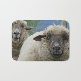 Disappointed sheep Bath Mat