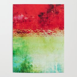 Modern Texture Red Abstract Poster