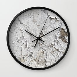 White Chipped Paint Wall Clock