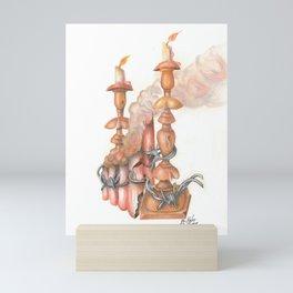 Five Chimneys (Pastel) Mini Art Print