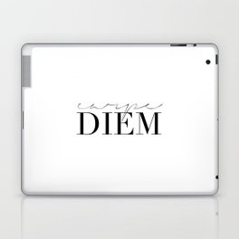 CARPE DIEM SIGN, Famous Quote,Seize The Day,Inspirational Quote,Motivational Quote,Office Decor,Home Laptop & iPad Skin