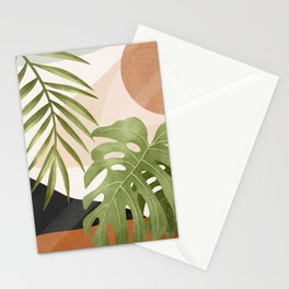 Abstract Art Tropical Leaves 21 Stationery Cards