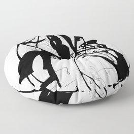 Black Rift Floor Pillow