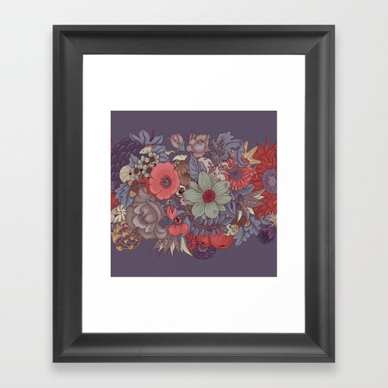the wild side - dusty tones Framed Art Print