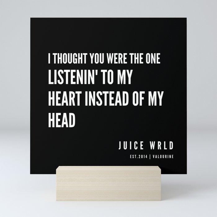 1 | Juice WRLD Quotes | 190608 Mini Art Print