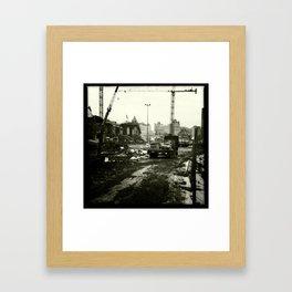 Work in progress / Travaux en cours Framed Art Print