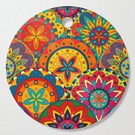 Funky Retro Pattern Mandalas Cutting Board