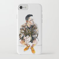 kendrick lamar iPhone & iPod Cases featuring Kendrick Lamar by Aleksandra Stanglewicz