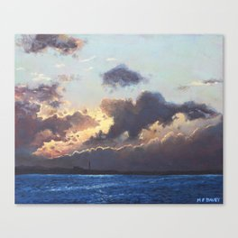 Sunset on the Solent Canvas Print