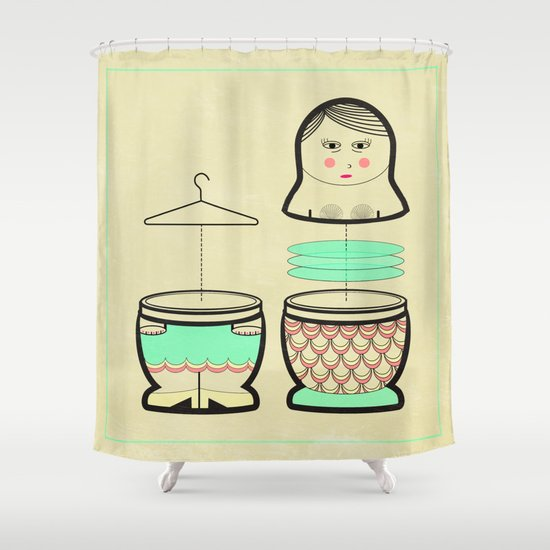 The mermaid who was tired of her tail ... Shower Curtain