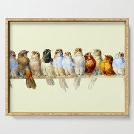 "Hector Giacomelli ""A Perch of Birds"" Serving Tray"