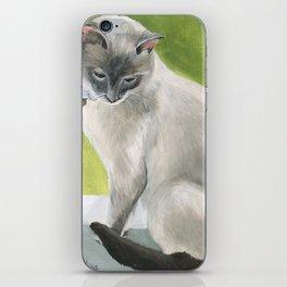 Siamese Cat Portrait iPhone Skin