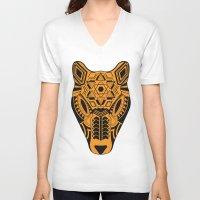 jaguar V-neck T-shirts featuring jaguar by danta