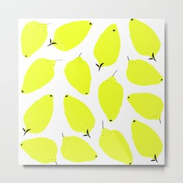 LEMONY WHITE Metal Print