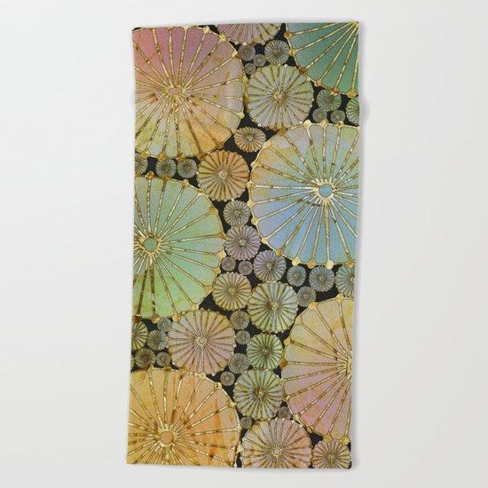 Abstract Floral Circles 2 Beach Towel