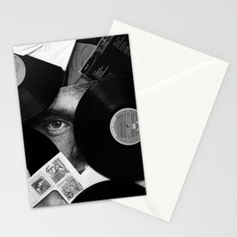 Long-playing Records and Covers in Black and White - Good Memories #decor #society6 #buyart Stationery Cards