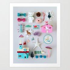 Winter Miniature Wonderland Art Print