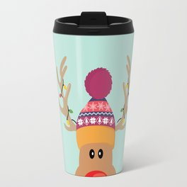Rudolph Red Nosed Reindeer is looking at you Travel Mug