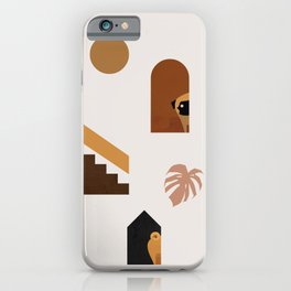 Hide and Seek Pug Abstract iPhone Case