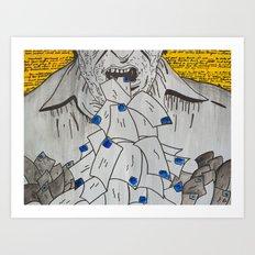 We are eaten up by nothing — Bukowski Art Print