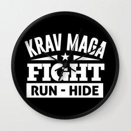Krav Maga Fight Self Defense Fight Wall Clock