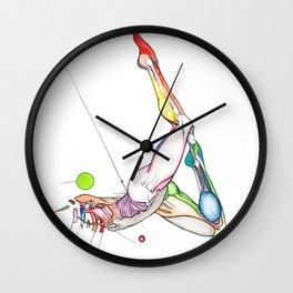 Cosmos, Abstract female anatomy, NYC artist Wall Clock