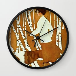 Coles Phillips 'Fadeaway Girl' A Walk in the Woods Wall Clock