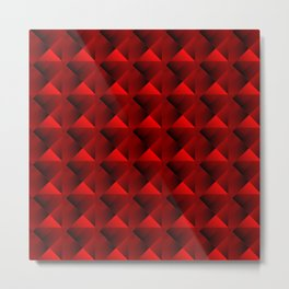 Optical pigtail rhombuses from red squares in the dark. Metal Print