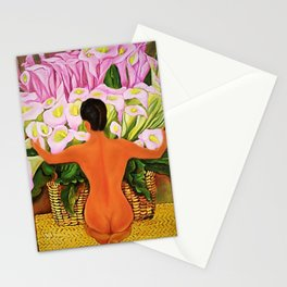 Nude with Calla Lilies by Diego Rivera Stationery Cards