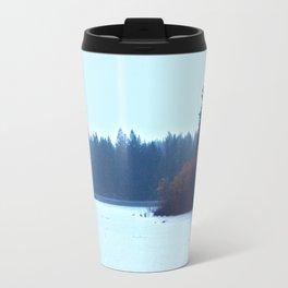 Rain on the Reservoir Travel Mug