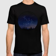 I love You Stars Design Black MEDIUM Mens Fitted Tee