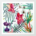 Tropical Watercolor Floral by robincurtiss