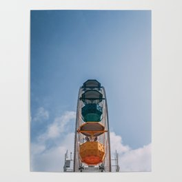 Ferry Wheel at the top of Tibidabo Poster