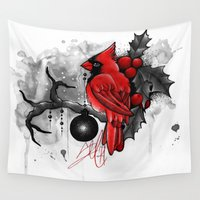 cardinal Wall Tapestries featuring Cardinal. by SynthiaManson